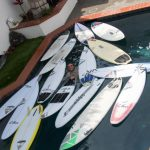 Surfboards in a Pool